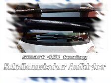 smart 451 Scheibenwischer Aufkleber matt Weiss Autoaufkleber Styling