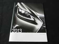 2013 Lexus Catalog IS250 IS350 F Sport LS460 GS ES RX 350 LX570 GX460 Brochure