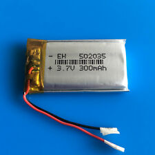 3.7V 300mAh Li Po Polymer Battery for MP3 Headset Bluetooth Smart Watch 502035