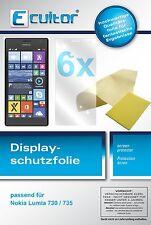 6x Nokia Lumia 730 / 735 Protector de Pantalla protectores transparente