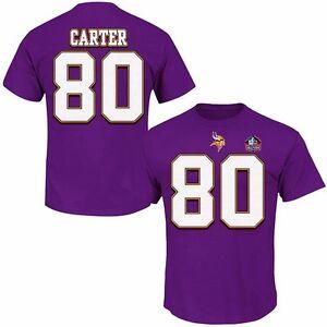Cris Carter #80 Minnesota Vikings Mens Discounted player Shirt Big & Tall Sizes
