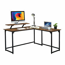 Corner Gaming Desk Computer Study Writing Table Home Office Industrial Furniture