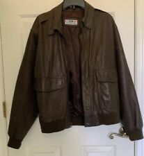 Ford Motor Company  Leather Jacket Mens Small S Embossed VTG Made In Korea