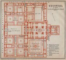 EL ESCORIAL floor plan. Spain España mapa. BAEDEKER 1913 old antique chart