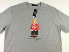 Polo Ralph Lauren Men Gray Big & Tall Polo Bear Graphic T-Shirt Tee XLT