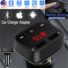 US Universal Dual USB Bluetooth Handsfree Call LED Car Charge Adapter MP3 Player