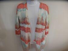 "NWT Orig $88 REBA Womens Lattice Sweater Orange, Turquoise, Rust, Mauve ""M"""