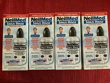 LOT (4) NEW Neilmed 8 oz Sinus Rinse Bottles & 4 Rinse Packets Expires 2021/03