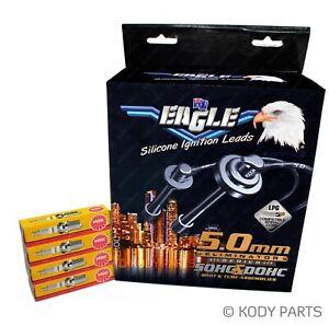 Ignition Leads & NGK Spark Plugs - for Ford Laser SR2 KQ 2.0L (FSDE eng)
