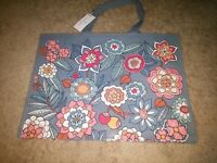 Vera Bradley Market Tote in Tropical Evening Reusable Shopper Market Tote, NEW
