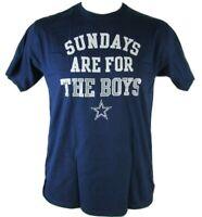 Men's Dallas Cowboys Shirt NFL Fanatics SUNDAYS ARE FOR THE BOYS Navy T-Shirt
