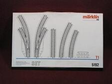 HO MARKLIN 5192 TRACK SET IN ORIG WHITE BOX - R/L REMOTE CURVE SWITCHES +++++