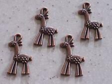 10 Christmas Reindeer Antique Copper Tone Charm Pendants 3.3 x 1.9cm FREE P&P