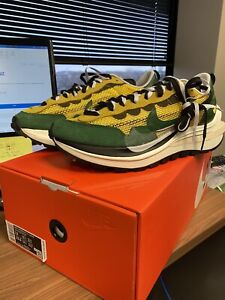 Men's Nike X Sacai Vaporwaffle Tour Yellow Stadium Green Size 12 *Ready to Ship*