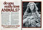 AMANDA BLAKE 1973 ANIMAL RESCUE PICTORIAL GUNSMOKE'S MISS KITTY