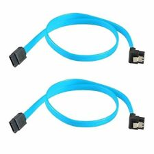 10 Pack SATA 3.0 III SATA3  HighSpeed 6GB/s Data Cable Angle Blue Cord 19 inch