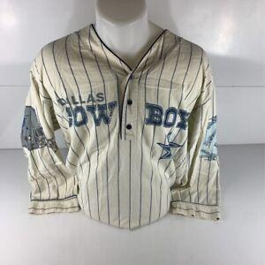 Dallas Cowboys NFL 1993 Mens Jersey White Blue Stripe Long Sleeve Vintage XL
