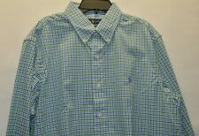 Polo Ralph Lauren Men's Plaid Cotton Stretch Long Sleeve Classic Fit Shirt L New