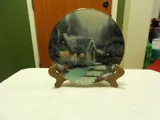 """""""Cedar Nook Cottage"""" by Thomas Kinkade, 1991 Collector Plate # 1285D"""