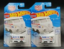 2019 Hot Wheels Kool Kombi #136 White - Set of 2