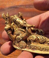 Bronze Sleeping Ganesh Elephant God Statue Temple Figure