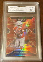 Devin Duvernay 2020 Panini Chronicles Select Red Prizm RC Ravens GMA 10 Graded
