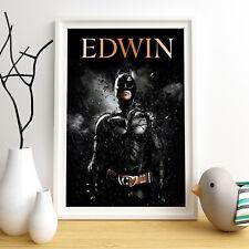 Dark Knight personnalisé affiche d'impression A4 Mur Art Personnalisé Nom ✔ livraison rapide ✔
