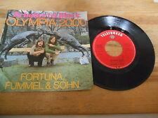 """7"""" Pop Schobert & Black - Olympia 2000 / Fortuna, Fummel (2 Song) TELEFUNKEN WoC"""
