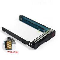 """2.5"""" SAS SATA SSD Drive Tray Caddy For HP DL360e DL380e ML350p ML370 Gen9 Gen8"""