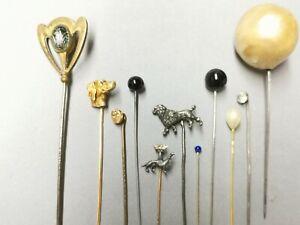 Belle collection d anciennes épingles à Chapeau / Cravate