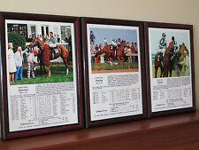Secretariat The Road to Triple Crown 1973 Kentucky Derby Preakness Belmont Set