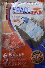 Space Saver Travel Roll Up Bags 6 Pack 3x Small 3x Medium