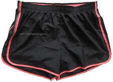 New Womens Marks & Spencer Black & Pink Fitness Shorts Size 14