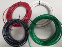 10 GAUGE THHN WIRE BLACK, RED, WHITE  GREEN 25 FEET EA THWN-2 COPPER STRANDED