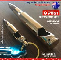 50 Caliber Bullet Bottle Opener Metal High Gloss Gold Ammunition Drinks opener