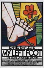 MY LEFT FOOT Movie POSTER 27x40 B Daniel Day-Lewis Brenda Fricker Ray McAnally
