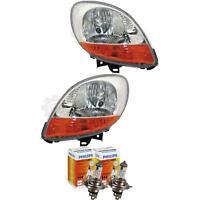 Scheinwerfer Set Ranault Kangoo II 04.03-07.07 H4 ohne Motor mit Blinker 1379911