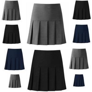 GirlsèAll Round Pleated School Skirt Zip Drop Waist Sizes Girls 9-16-Women 10-20
