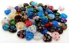 20 Millefiori Glass Heart Beads Approx 10mm