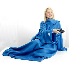 Snuggie Cuddle Blanket Throw With Sleeves Fleece Snuggle Warm Comfortable Wrap