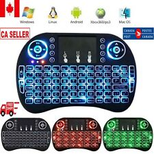 2.4GHz Mini Wireless Remote Keyboard Mouse Touch Pad + USB Receiver For Smart TV
