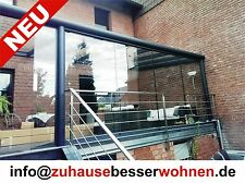 Terrassenüberdachung Carport Überdachung Aluminium Terrassendach  VSG Glas 5x4m