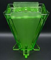 Traumhaft: Winged Press Glas Vase Art Déco Hermanova Hut Stölzle um 1930 4,8kg!