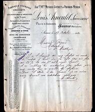 """SAUMUR (49) USINE d'AGRAFES """"MENIER ,GUERET & PUICHAUD / Louis ARNOULD"""" en 1910"""