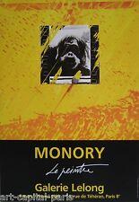 MONORY JACQUES AFFICHE FOND LELONG PRODUITE EN 1989 FIGURATION NARRATIVE POSTER