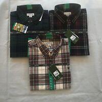 Orvis Men's Tartan Twill Long Sleeve, 2 SHIRTS BUNDLE, size XL, Khaki, Red, Blue