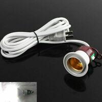 3M Weiß Thread Lampenfassung E27 Fassung Netzkabel Stecker Schalter Stromkabel