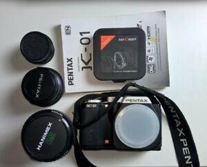 Pentax K-01 with 3 lenses = Takumar 20-80MM, SMC Pentax 50, Vintage Industar 50