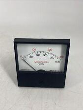 Rare Vintage Motorola 72d84865b01 Microamperes Volts Panel Meter Gauge
