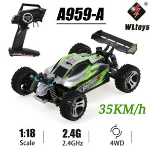 🔥🔥 Buggy WLtoys A959-A RC Car 2.4G 1/18 4WD 35KM/H Racing Vehicle Off Road RTR